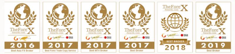 GemForexがブローカー賞受賞